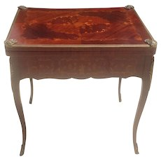 Late 19th cent. French game table