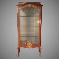 Late 19th c. French vitrine