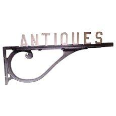 Vintage Antiques Sign