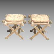20th cent. Pair of stools