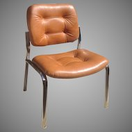 Retro Leather and Chrome chair
