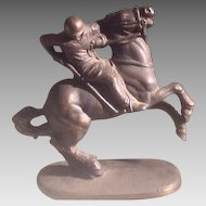 Vintage American polo player figure