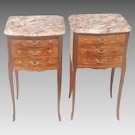 C. 1900 Pair French side tables