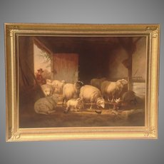 Large 19th Cent. Signed Belgian Oil Painting