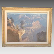 20th C. Grand Canyon Oil Painting
