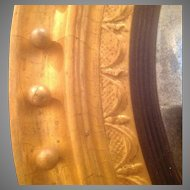 Large C. 1820 Regency Period Convex Mirror