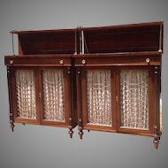 19th c. Pair of Rosewood Cabinets