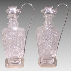 Paul Storr Sterling/Crystal Cruets