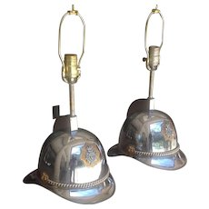 20th c. Scandinavian Helmet Lamps