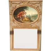 18th c. French Trumeau Mirror