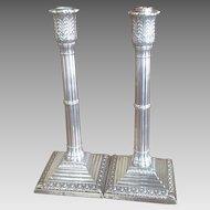 19th c. British Sterling Candlesticks
