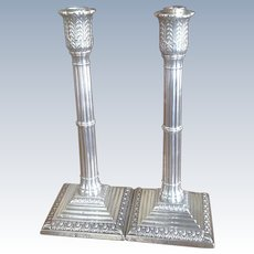 19th c. British Sterling Candlesticks