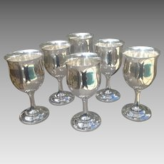 Set of 6 Sterling Reed & Barton Goblets