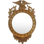 19th C. Gilted Convex Mirror