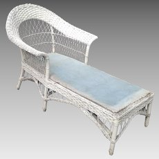 C. 1920 Wicker Chaise Lounge