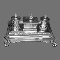 19th C. British Sterling Inkwell