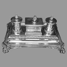 19th C. British Sterling Inkwell