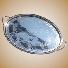 Large C. 1801 George III Sterling Tray