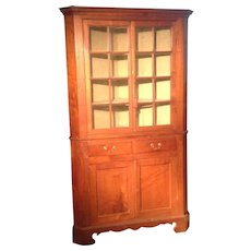 18th c. American Walnut Corner Cupboard