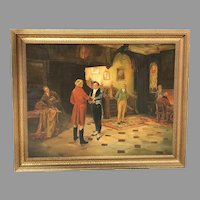 Early 20th C. German Interior Painting