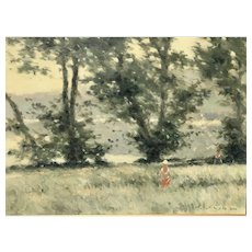 André Gisson Impressionist Painting Mid 20th Century