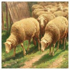 Large 19th C. Belgian Painting