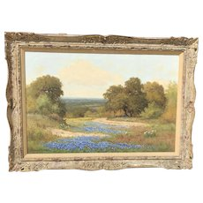 Large Palmer Chrisman Texas Bluebonnet Painting