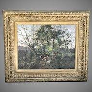 19th C. Charles Felix Edouard Deshayes painting