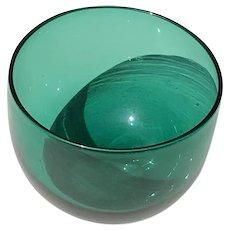 19th C. English Bristol Glass Wine Rinser