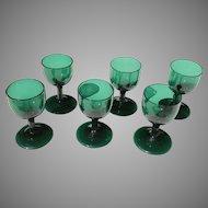 Early 19th C. English Bristol Glass Wine Set