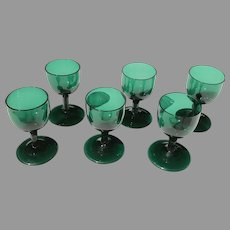 Early 19th C. English Bristol Glass Wine Set