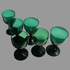 Early 19 C. Bristol Glass Wine Set