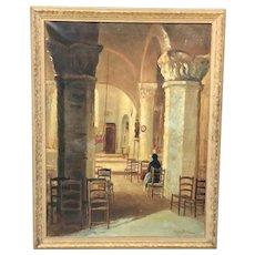 C. 1900 Georges Delfosse Painting