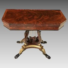 C. 1820 American Classical Game Table