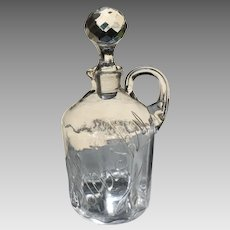 Early 20th C. American Glass Whiskey Jug