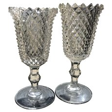 Early 20th C. American Cut Crystal Goblets