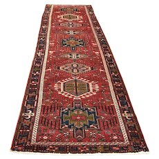 Mid 20th C. Persian Karajeh Rug