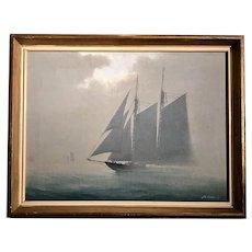C. 1935 American Marine Painting