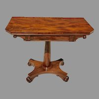 Early 19th C. American Classical Card Table