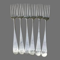 Set of 18th C. Hester Bateman Sterling Forks