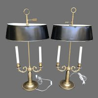 Mid C. Pair of  French Bouillotte Lamps