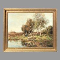 Early 20th C. Large Dutch Landscape