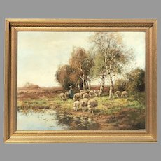Early 20th C. Large Dutch Landscape