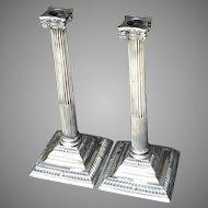 18th c. British Sterling Silver Candlesticks