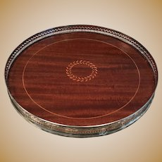 Early 20th C. Tiffany Sterling /Mahogany Tray