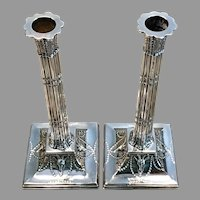 18th C. British sterling Candlesticks