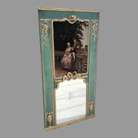 Early 19th C. French Trumeau Mirror