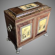 Mid 19th C. English Tunbridge Ware Cabinet