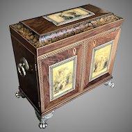 Mid 19th C. English Tunbridge Ware Cabinet