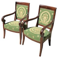 Early 19th C. Pair of French Armchairs